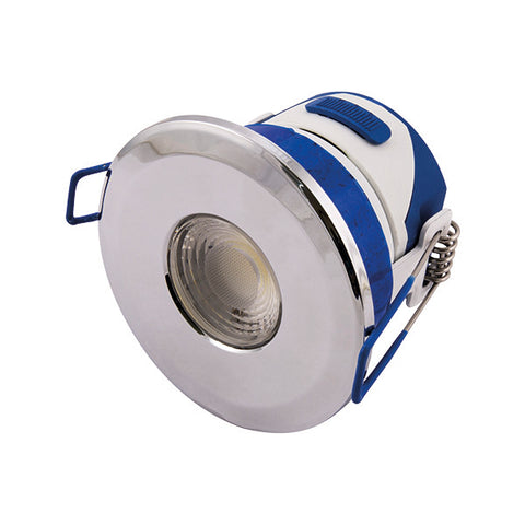 7W LED Temperature Colour Changing Dimmable Downlight - Chrome Bezel