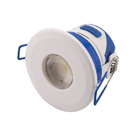 7W LED Temperature Colour Changing Dimmable Downlight - White Bezel