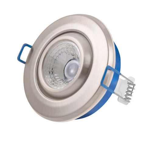 4.8W LED Tilt Dimmable Downlight - Satin Chrome Bezel