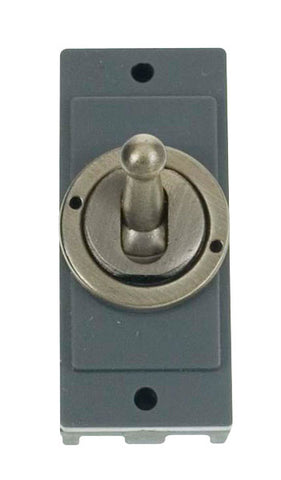 Minigrid 1 Gang Intermediate Toggle Switch - Antique Brass