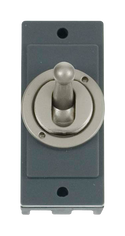 Minigrid 1 Gang Intermediate Toggle Switch - Pearl Nickel