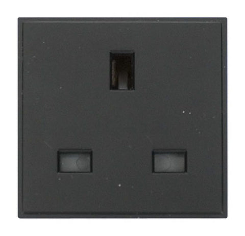 13A Uk Socket Outlet - Black