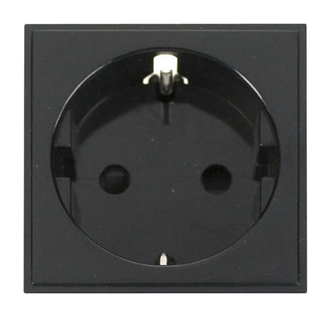 16a European Schuko Socket Outlet - Black