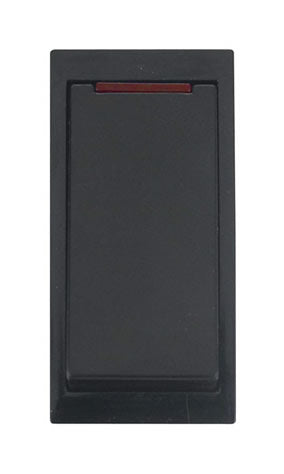 20A DP Media Switch With Neon - Black