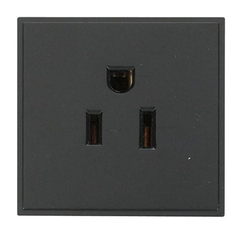 16a 110v Us Socket Outlet – Black