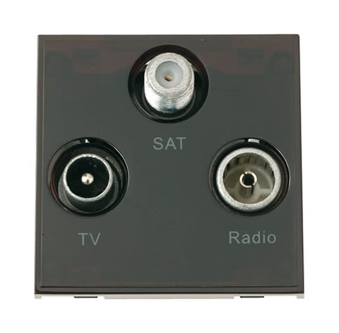 Triplexed TV   Radio And Satellite - Black