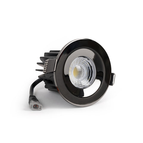 Black Nickel CCT Fire Rated LED Dimmable 10W IP65 Downlight