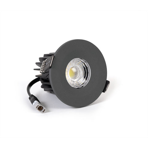 Graphite Grey CCT Fire Rated LED Dimmable 10W IP65 Downlight