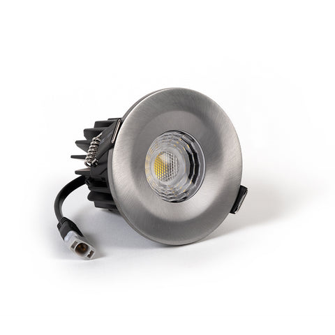 Pewter CCT Fire Rated LED Dimmable 10W IP65 Downlight