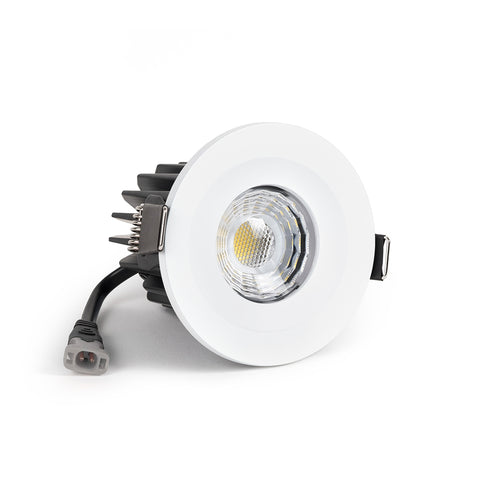 White Fixed CCT Colour Changing Fire Rated LED Dimmable IP65 10W Downlight