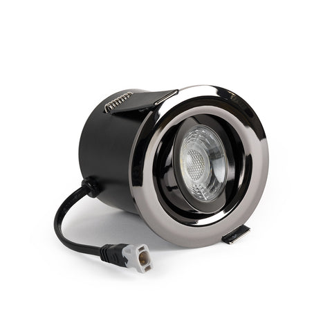 Black Nickel Tiltable Adjustable 4K Fire Rated LED 6W IP44 Dimmable Downlight