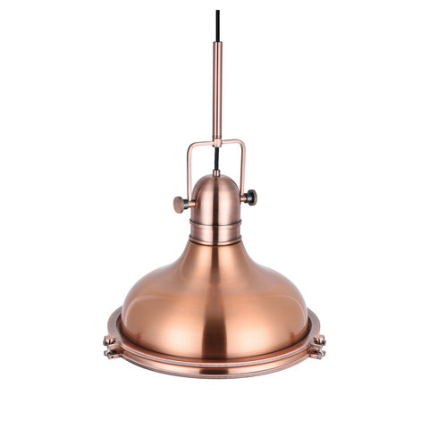 Cambridge Rose Gold Bell Shaped Nautical Pendant Light