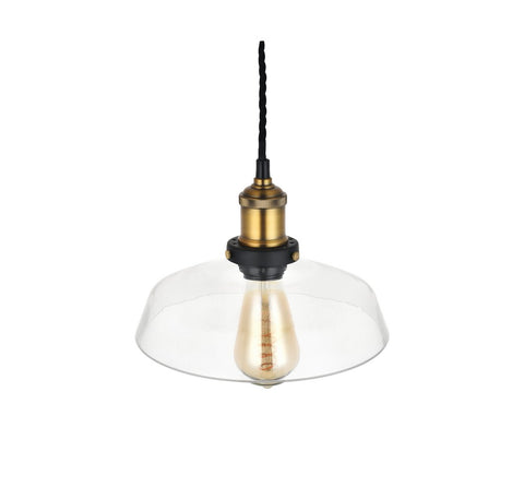 Romilly Step Clear Glass Pendant Light
