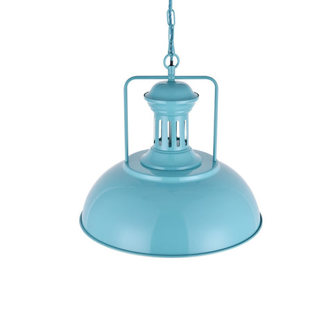 Regent Vintage Kitchen Pendant Light Duck Egg Blue Turquoise