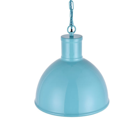 Wardour Industrial Bay Pendant Light Duck Egg Blue Turquoise