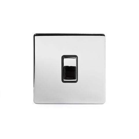 Screwless Polished Chrome 10A 1 Gang Intermediate Light Switch