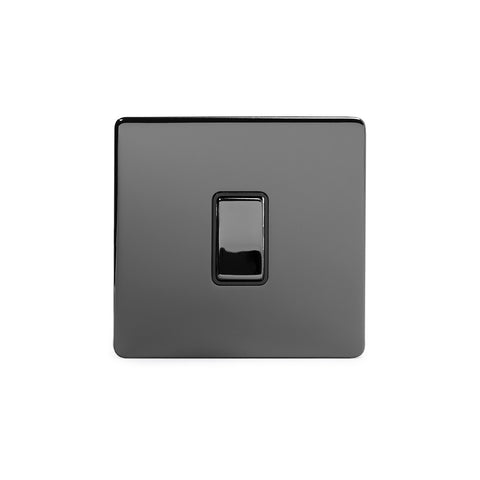 Screwless Black Nickel 10A 1 Gang 2 Way Light Switch