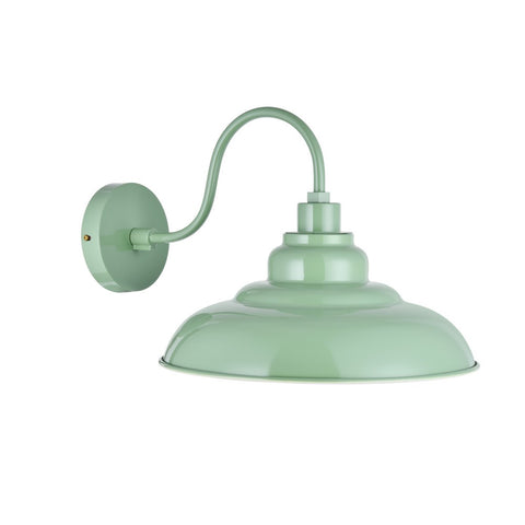 Portland Reclaimed Style Wall Light Chalk Mint Green