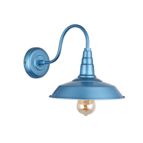 Argyll Industrial Wall Light Aston Blue