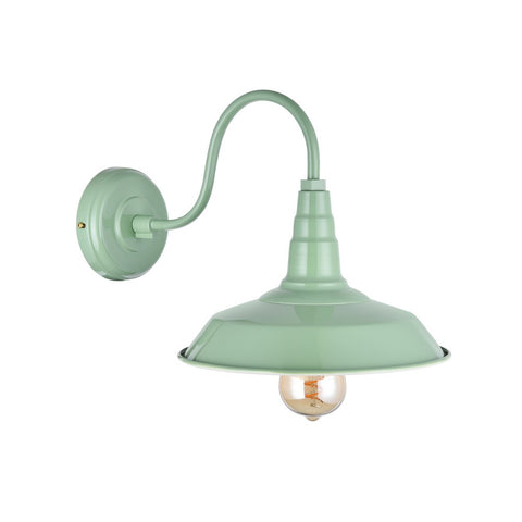 Argyll Industrial Wall Light Chalk Mint Green