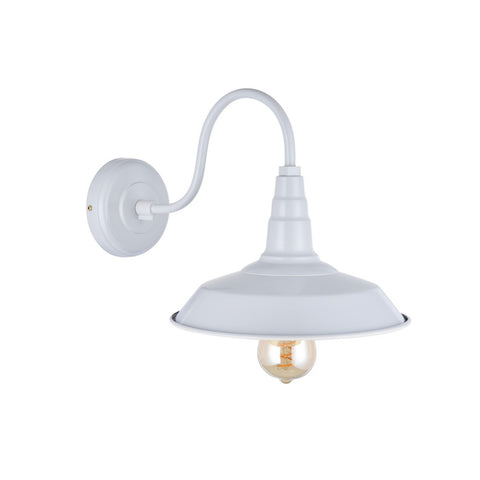 Argyll Industrial Wall Light Pale Grey