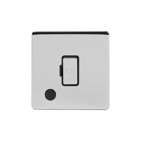 Screwless Polished Chrome 13A Unswitched Connection Unit Flex Outlet