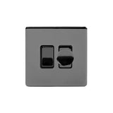 Screwless Black Nickel Dimmer and Rocker Light Switch Combo Screwless (2 Way Light Switch & 400w Trailing Dimmer)