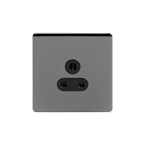 Screwless Black Nickel 5 Amp Unswitched Plug Socket