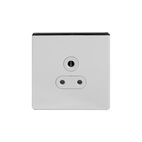 Screwless Polished Chrome 5 Amp Unswitched Plug Socket