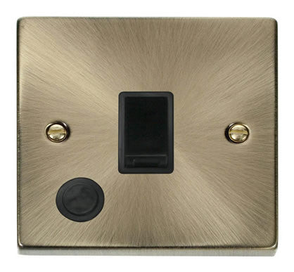 Antique Brass 1 Gang 20A DP Switch With Flex - Black Trim