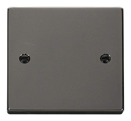 Black Nickel 1 Gang Blank Plate - Black