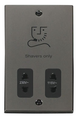 Black Nickel Dual Voltage Shaver 115v/230v - Black