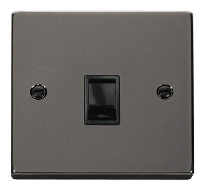 Black Nickel Rj11 Socket - Black Trim