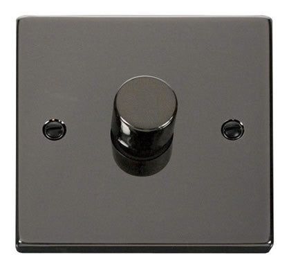 Black Nickel 1 Gang 2 Way 400w Dimmer Switch - Black Trim