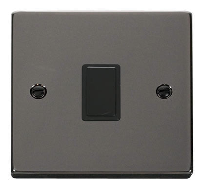 Black Nickel 1 Gang 20A DP Switch - Black Trim