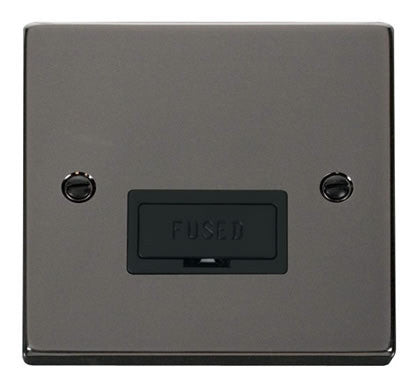 Black Nickel 13A Fused Connection Unit - Black Trim