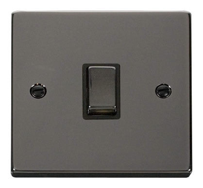 Black Nickel 1 Gang 20A Ingot DP Switch - Black Trim