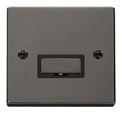 Black Nickel 13A Fused Ingot Connection Unit - Black Trim