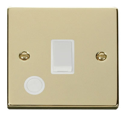 Polished Brass 1 Gang 20A DP Switch With Flex - White Trim