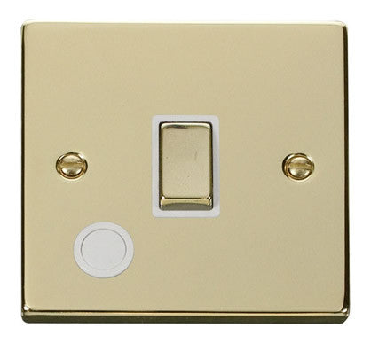 Polished Brass 1 Gang 20A Ingot DP Switch With Flex - White Trim