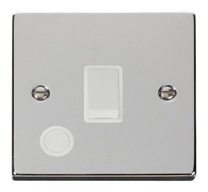 Polished Chrome 1 Gang 20A DP Switch With Flex - White Trim
