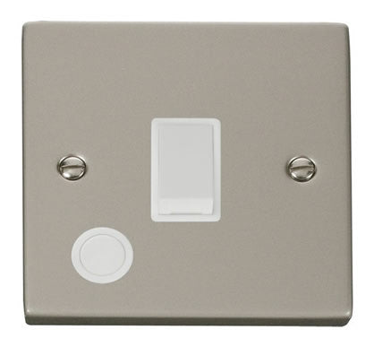 Pearl Nickel 1 Gang 20A DP Switch With Flex - White Trim