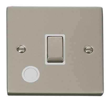 Pearl Nickel 1 Gang 20A Ingot DP Switch With Flex - White