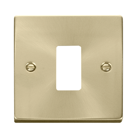 Gridpro 1 Gang Satin Brass Plate