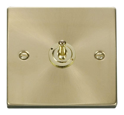 Satin Brass 1 Gang 2 Way 10AX Toggle Light Switch
