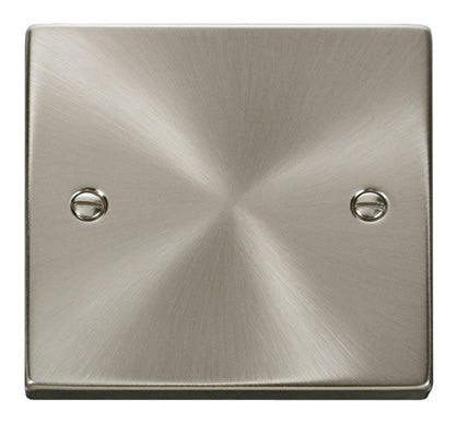 Satin Chrome 1 Gang Blank Plate