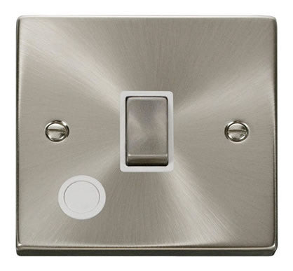 Satin Chrome 1 Gang 20A Ingot DP Switch With Flex - White Trim
