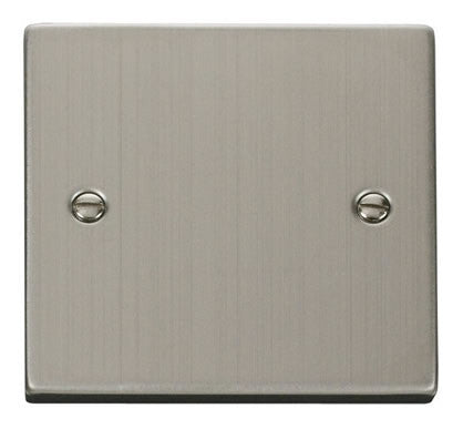 Stainless Steel 1 Gang Blank Plate - White