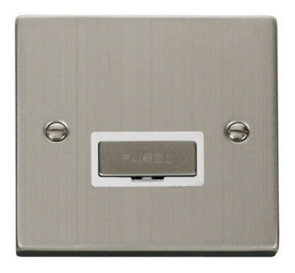 Stainless Steel 13A Fused Ingot Connection Unit - White