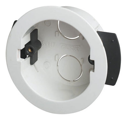 Round Ceiling 34mm Deep Dry Lining Box